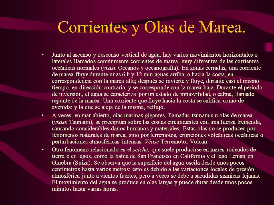 Corrientes y Olas de Marea.