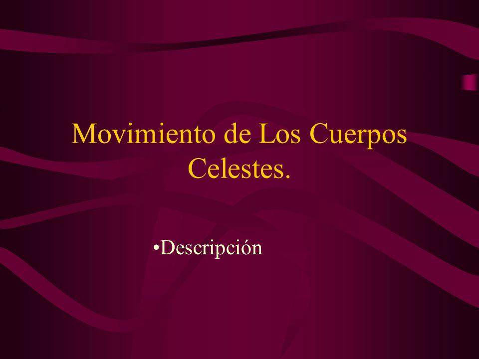 Movimiento de Los Cuerpos Celestes.
