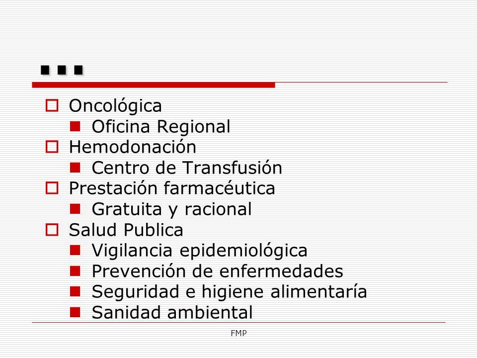 … Oncológica Oficina Regional Hemodonación Centro de Transfusión