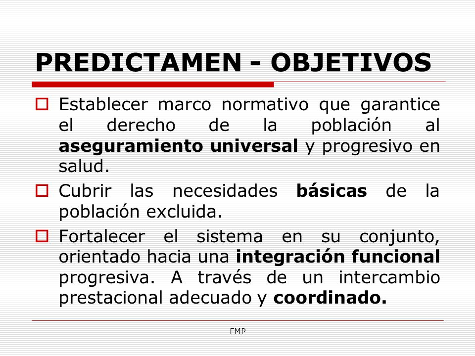 PREDICTAMEN - OBJETIVOS