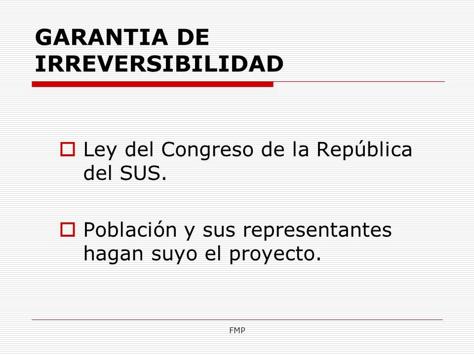 GARANTIA DE IRREVERSIBILIDAD