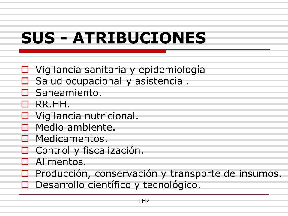SUS - ATRIBUCIONES Vigilancia sanitaria y epidemiología