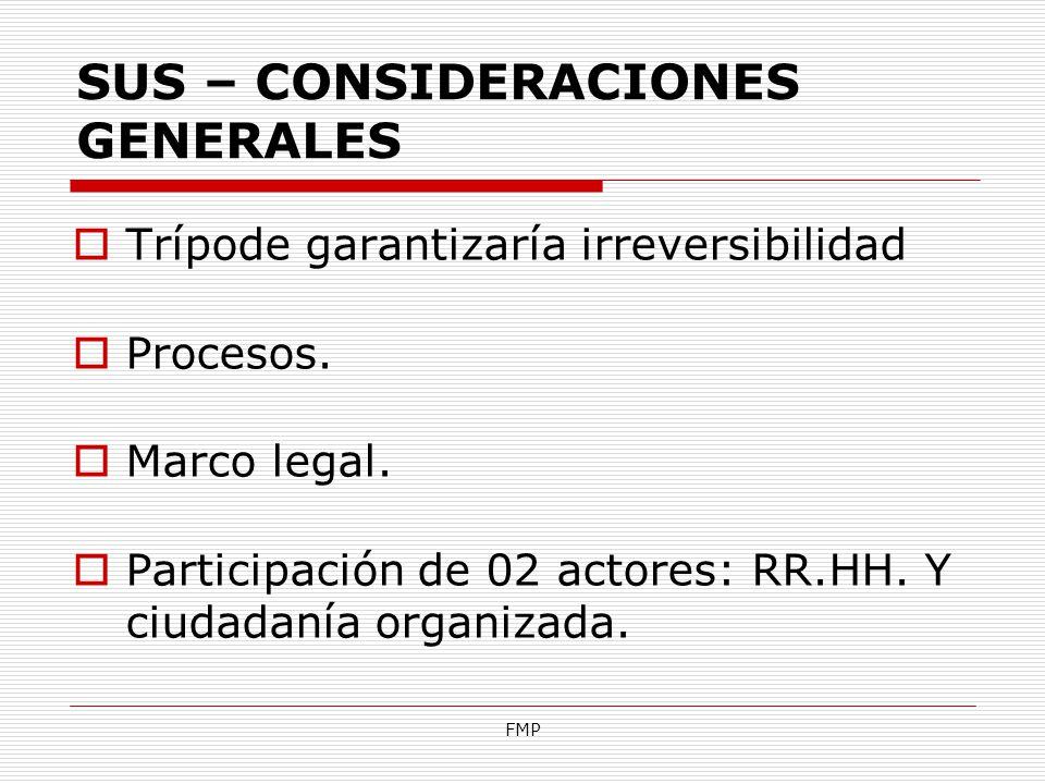 SUS – CONSIDERACIONES GENERALES