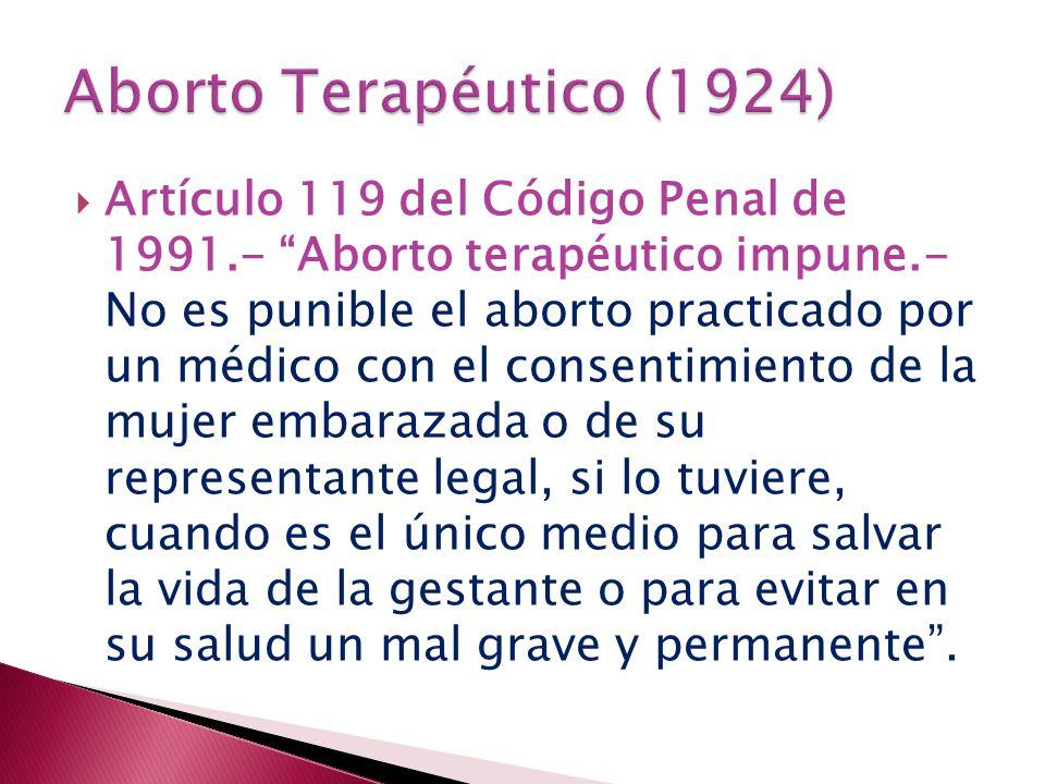 Aborto Terapéutico (1924)