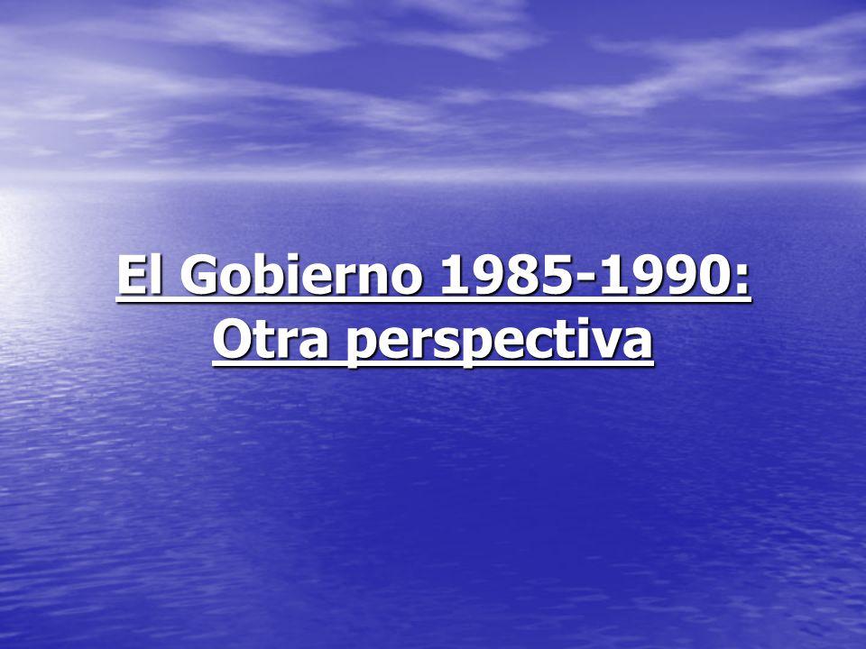 El Gobierno 1985-1990: Otra perspectiva