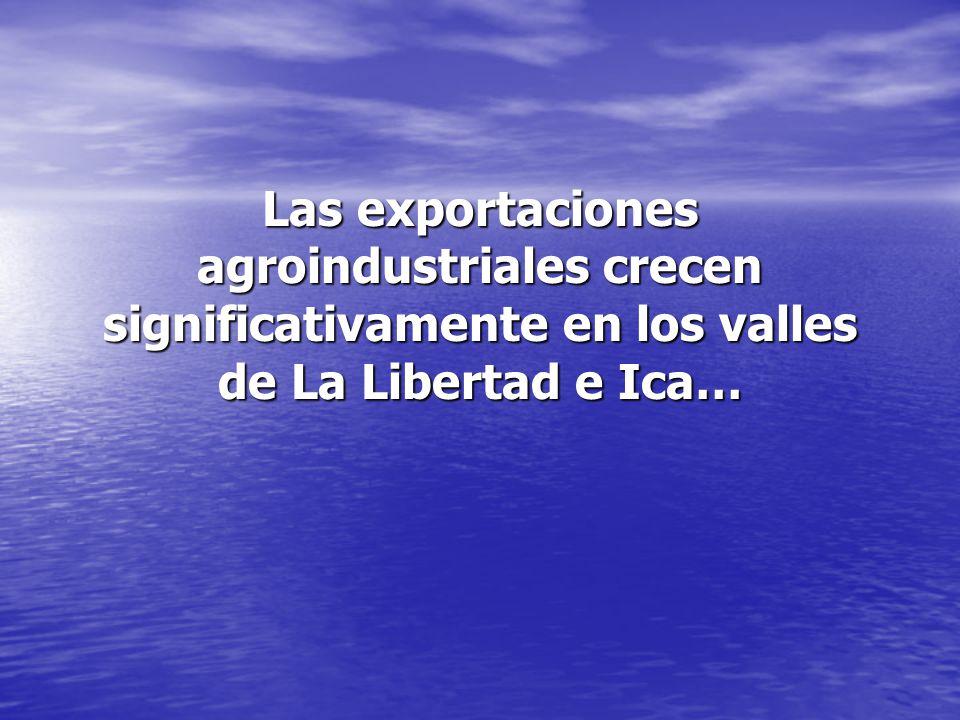 Las exportaciones agroindustriales crecen significativamente en los valles de La Libertad e Ica…