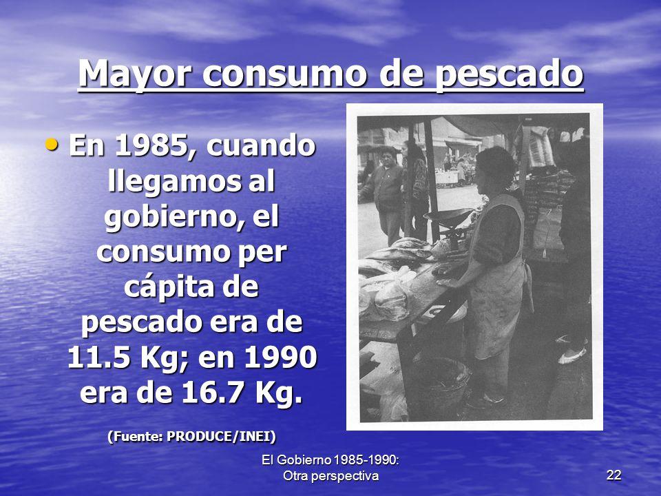 Mayor consumo de pescado