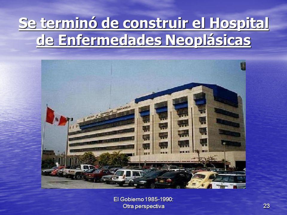 Se terminó de construir el Hospital de Enfermedades Neoplásicas
