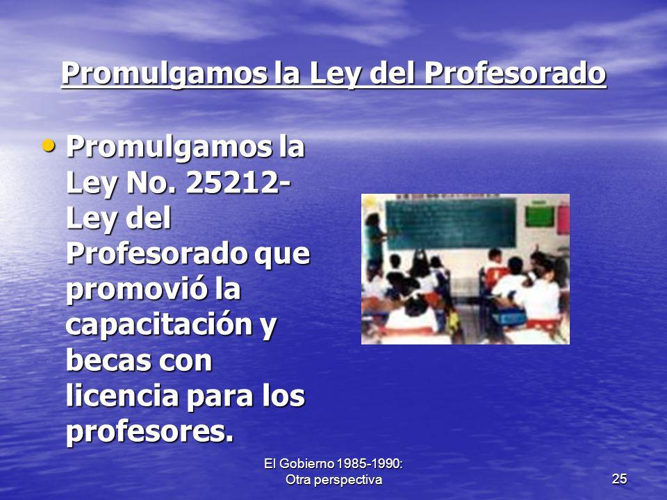 Promulgamos la Ley del Profesorado