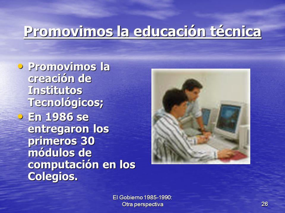 Promovimos la educación técnica
