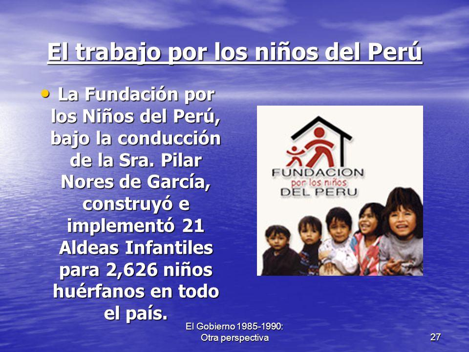El trabajo por los niños del Perú