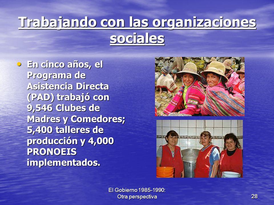 Trabajando con las organizaciones sociales