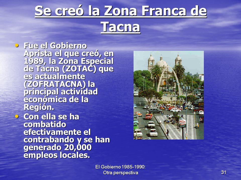 Se creó la Zona Franca de Tacna