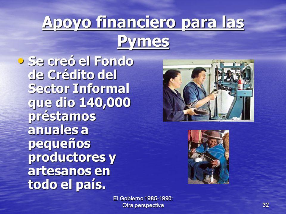Apoyo financiero para las Pymes