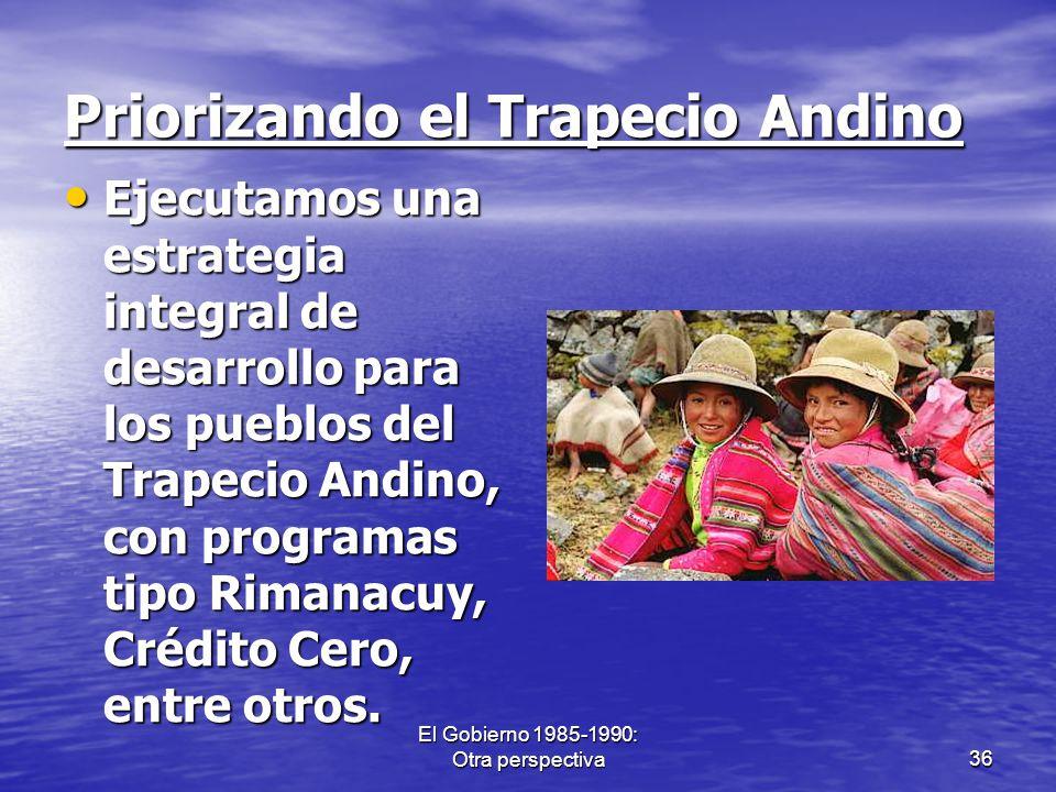 Priorizando el Trapecio Andino