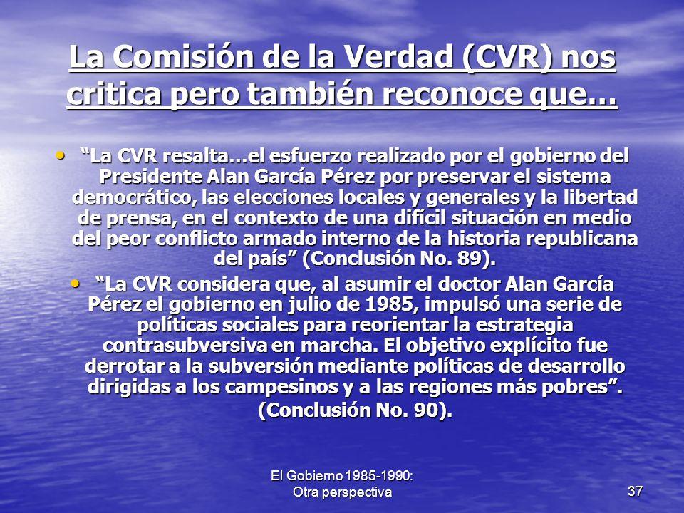 La Comisión de la Verdad (CVR) nos critica pero también reconoce que…