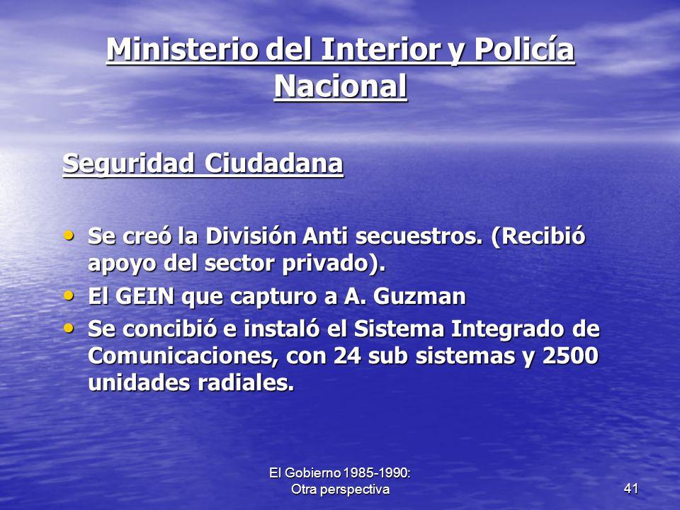 Ministerio del Interior y Policía Nacional