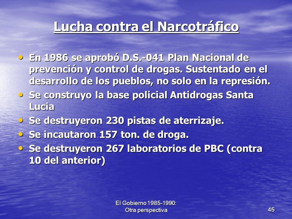 Lucha contra el Narcotráfico