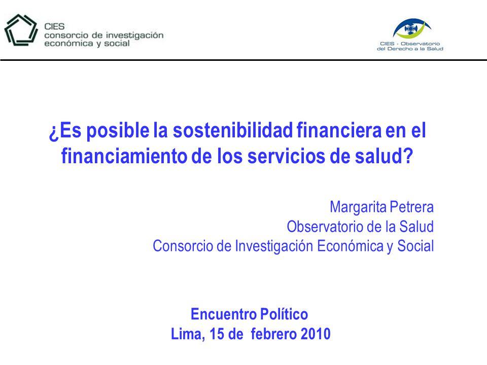 ¿Es posible la sostenibilidad financiera en el financiamiento de los servicios de salud