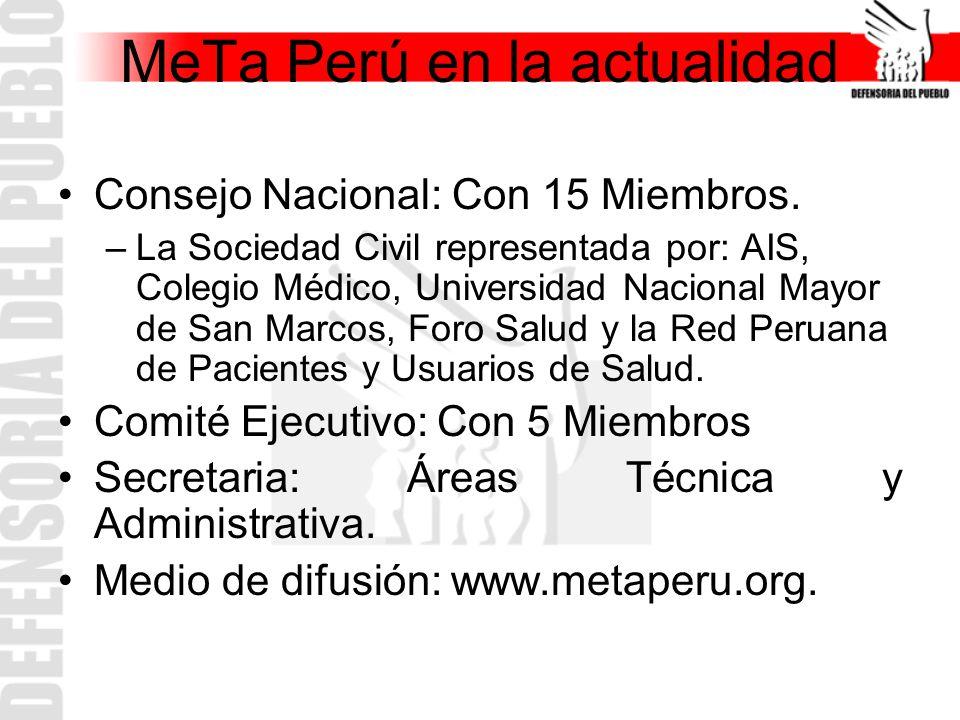 MeTa Perú en la actualidad