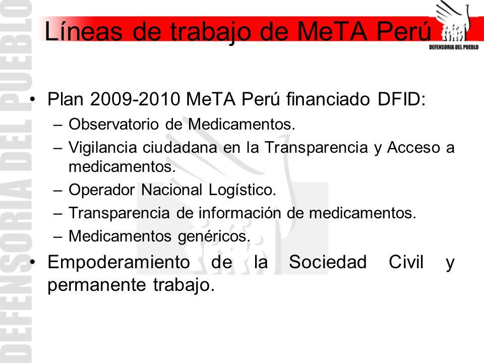 Líneas de trabajo de MeTA Perú