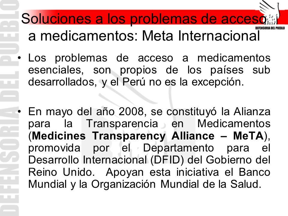 Soluciones a los problemas de acceso a medicamentos: Meta Internacional