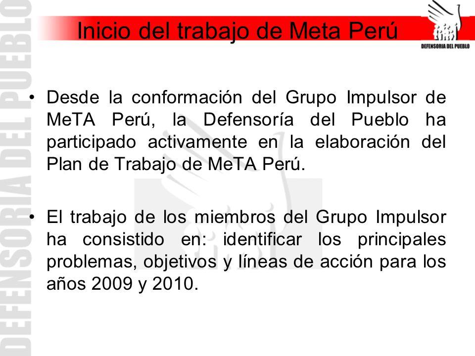 Inicio del trabajo de Meta Perú