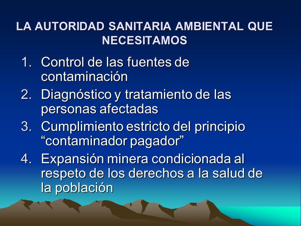 LA AUTORIDAD SANITARIA AMBIENTAL QUE NECESITAMOS