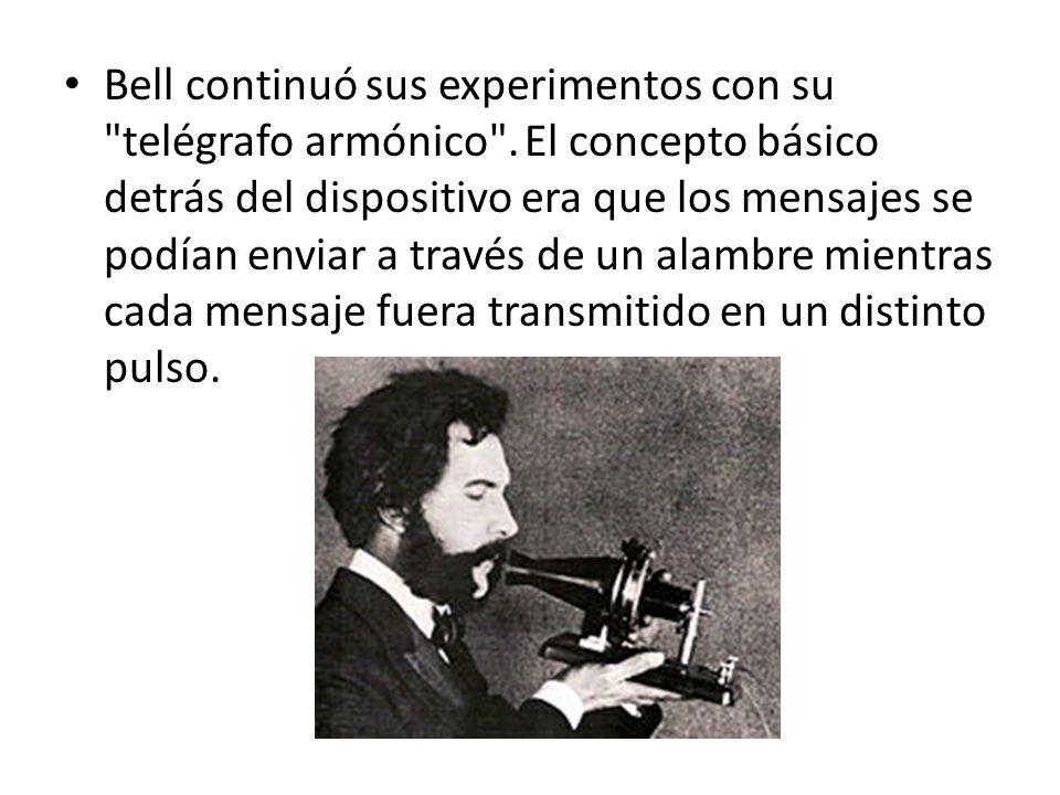 Bell continuó sus experimentos con su telégrafo armónico
