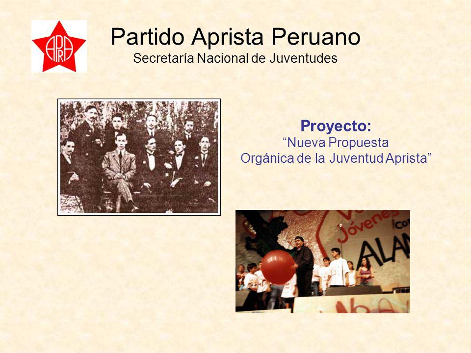 Partido Aprista Peruano Secretaría Nacional de Juventudes