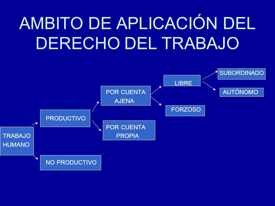 AMBITO DE APLICACIÓN DEL DERECHO DEL TRABAJO
