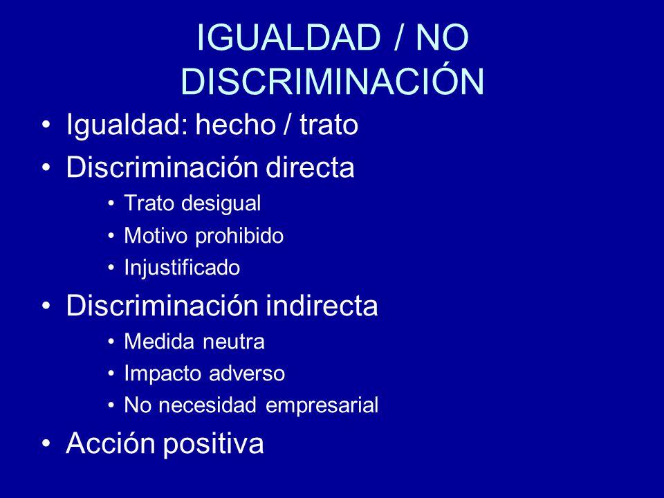 IGUALDAD / NO DISCRIMINACIÓN