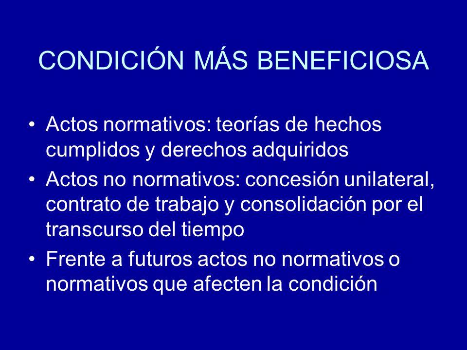 CONDICIÓN MÁS BENEFICIOSA