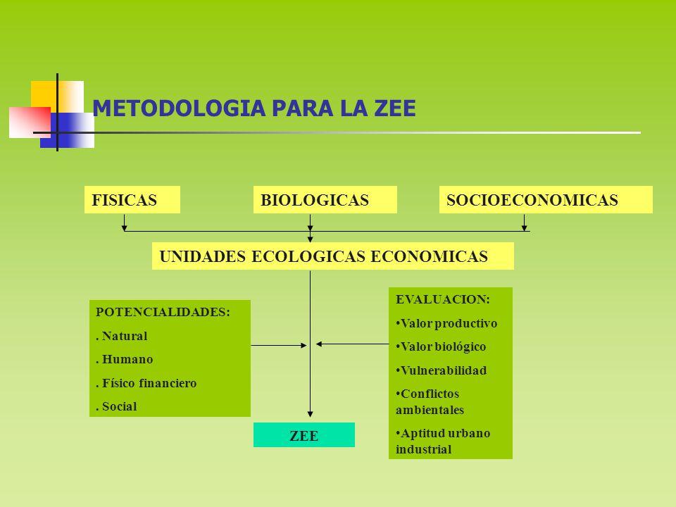 METODOLOGIA PARA LA ZEE