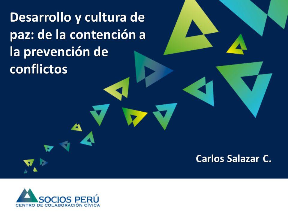 Desarrollo y cultura de paz: de la contención a la prevención de conflictos