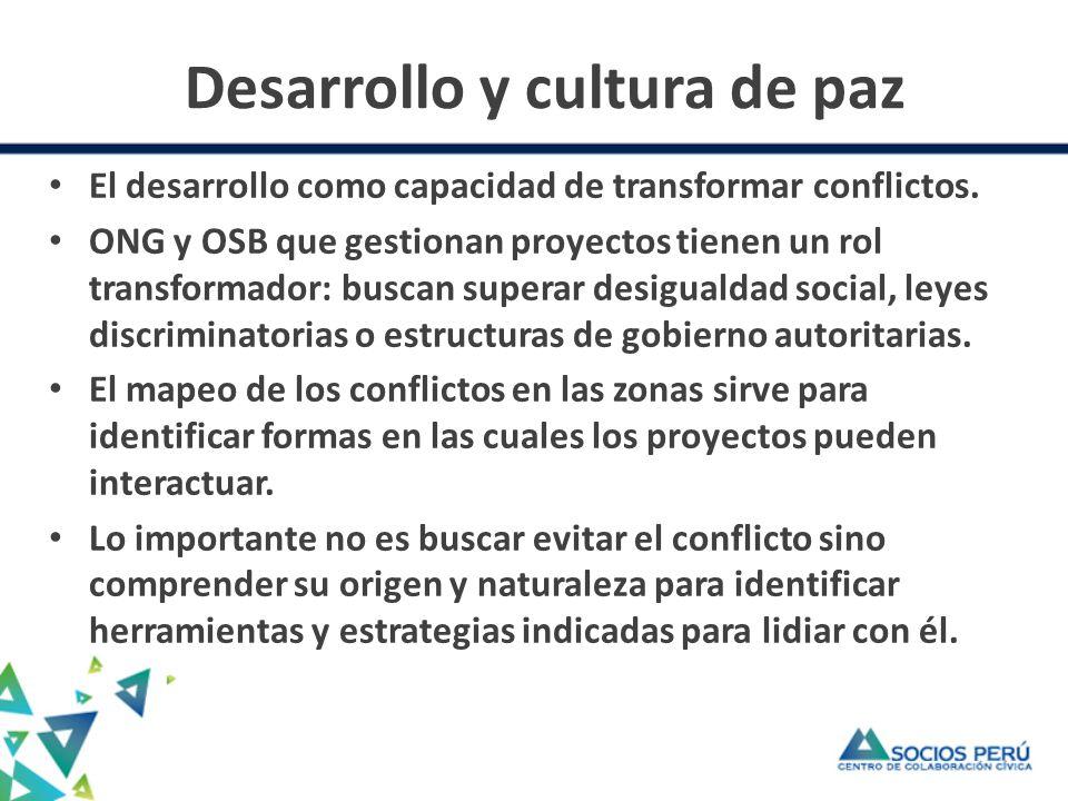 Desarrollo y cultura de paz