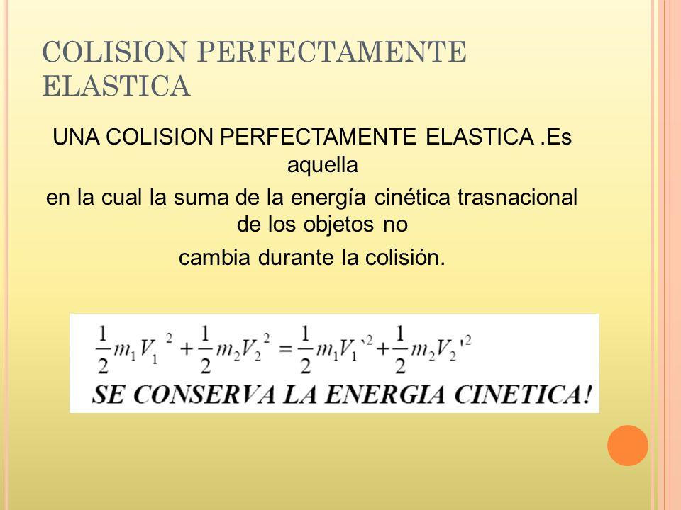 COLISION PERFECTAMENTE ELASTICA