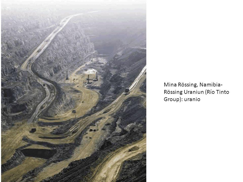 Mina Rössing, Namibia-Rössing Uraniun (Río Tinto Group): uranio