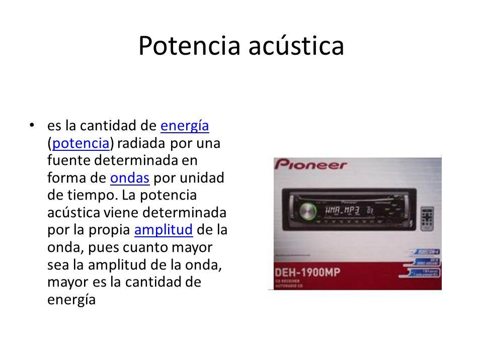 Potencia acústica