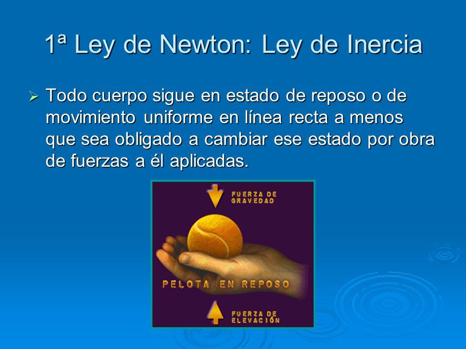 1ª Ley de Newton: Ley de Inercia