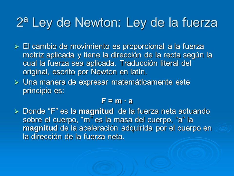 2ª Ley de Newton: Ley de la fuerza
