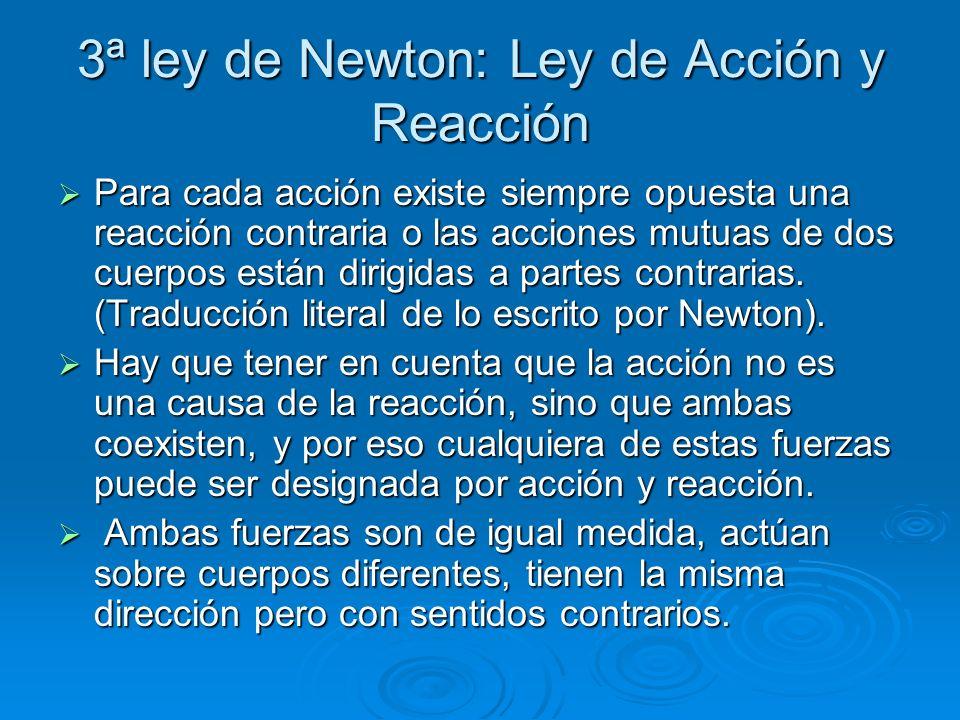 3ª ley de Newton: Ley de Acción y Reacción
