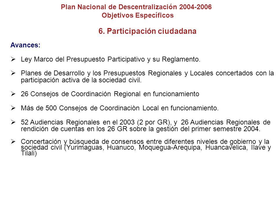 6. Participación ciudadana
