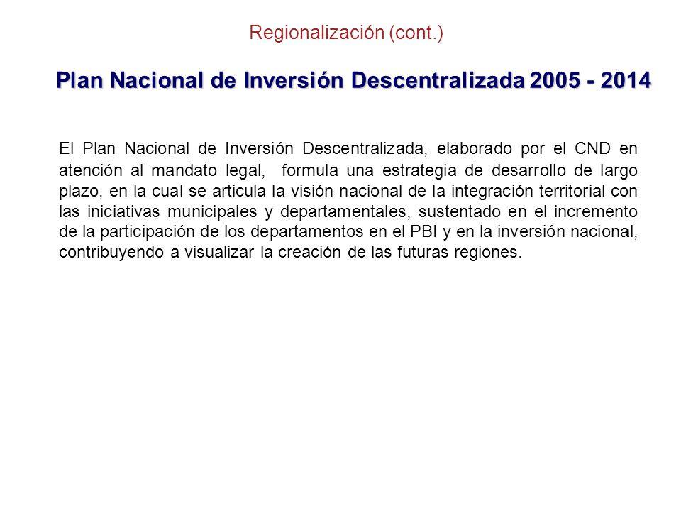 Regionalización (cont.)