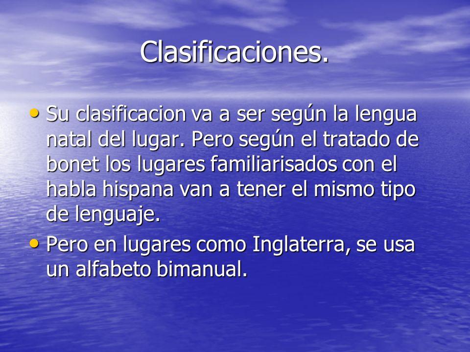 Clasificaciones.