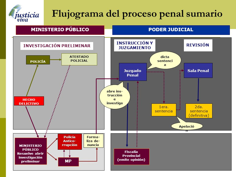 Flujograma del proceso penal sumario