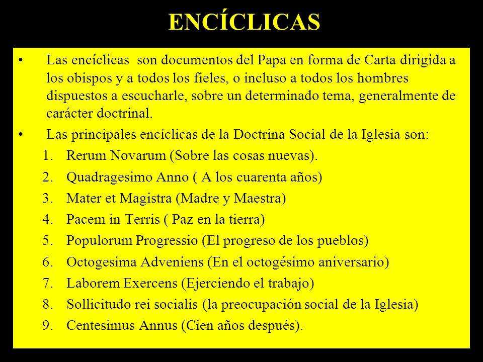 ENCÍCLICAS