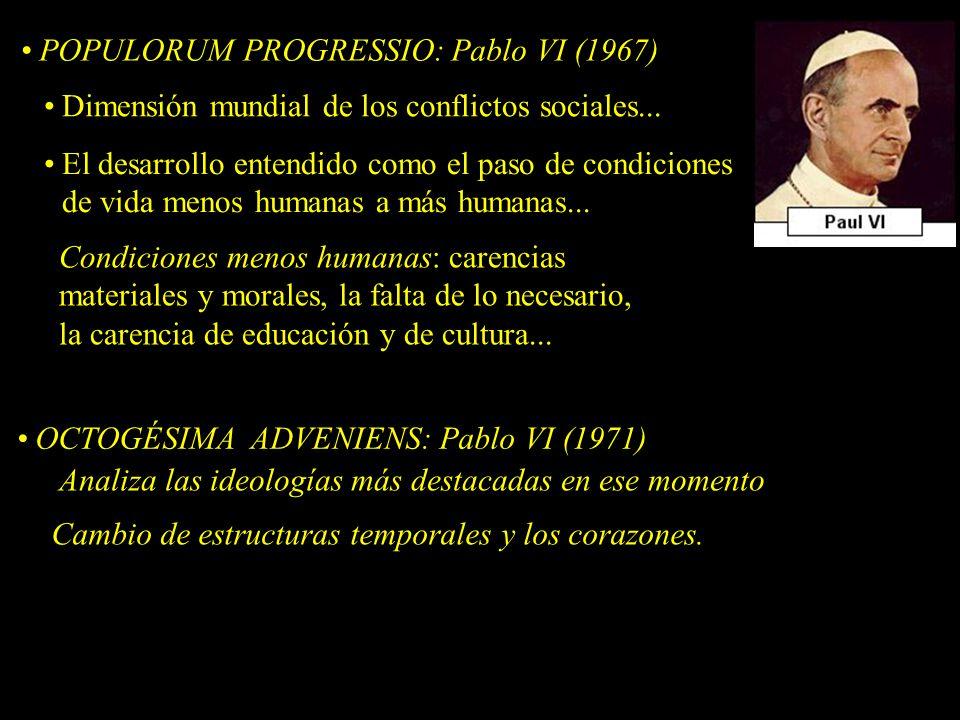 POPULORUM PROGRESSIO: Pablo VI (1967)