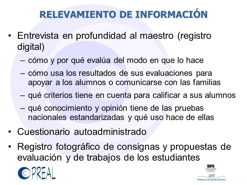 RELEVAMIENTO DE INFORMACIÓN