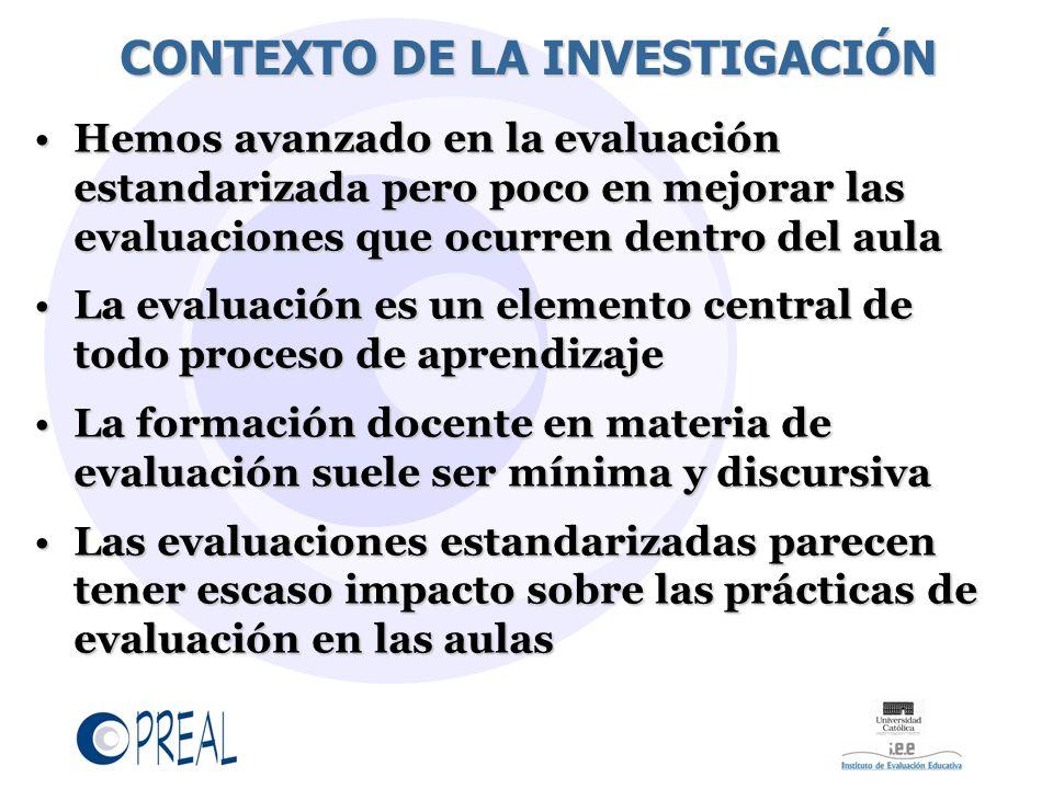 CONTEXTO DE LA INVESTIGACIÓN
